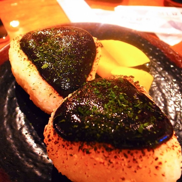 Yaki Onigiri With Miso @ Sake Bar Hagi