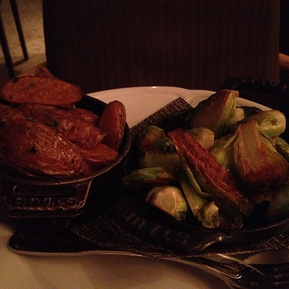 caramelized brussel sprouts and duck fat fried potatoes @ Sepia