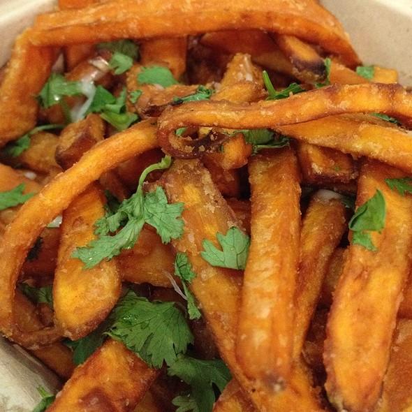 Sweet potato fries @ Sanguchon Peruvian Food Truck