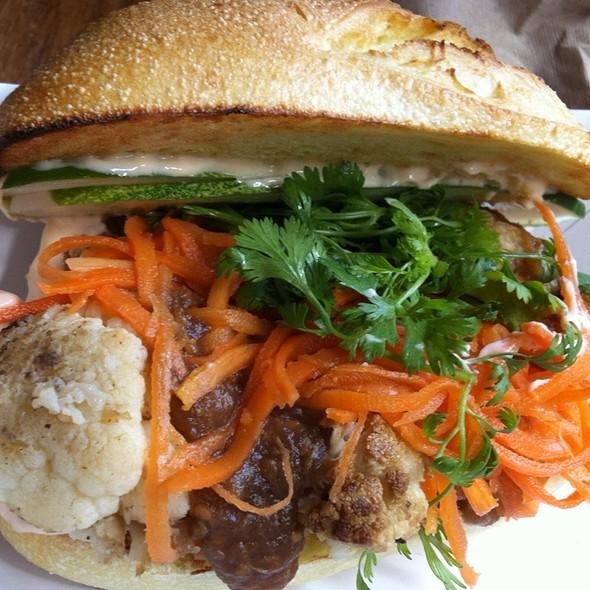 Roasted Cauliflower Bahn Mi  @ Num Pang Sandwich Shop