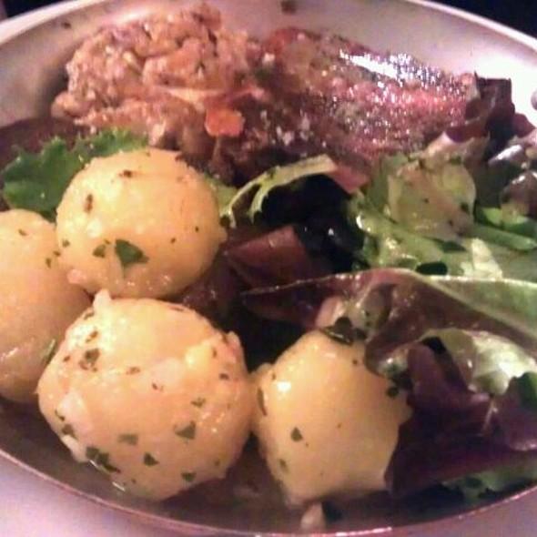 Tête De Veau, Langue Et Cervelle Croustillants, Sauce Gribiche  @ Cafe Constant