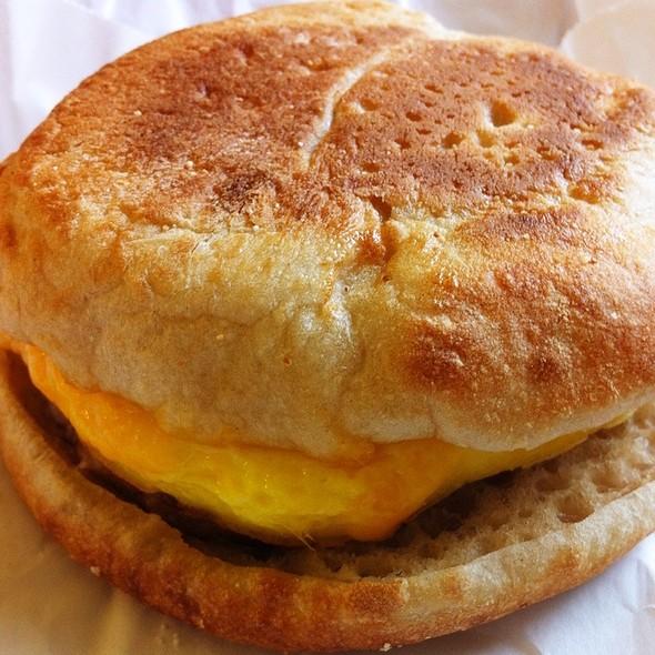 Classic Sausage & Egg Sandwich @ Starbucks