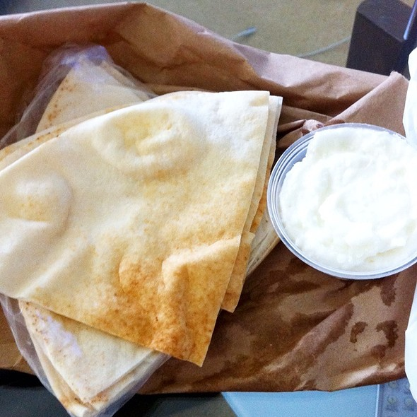 Pita Bread And Garlic @ La Oasis