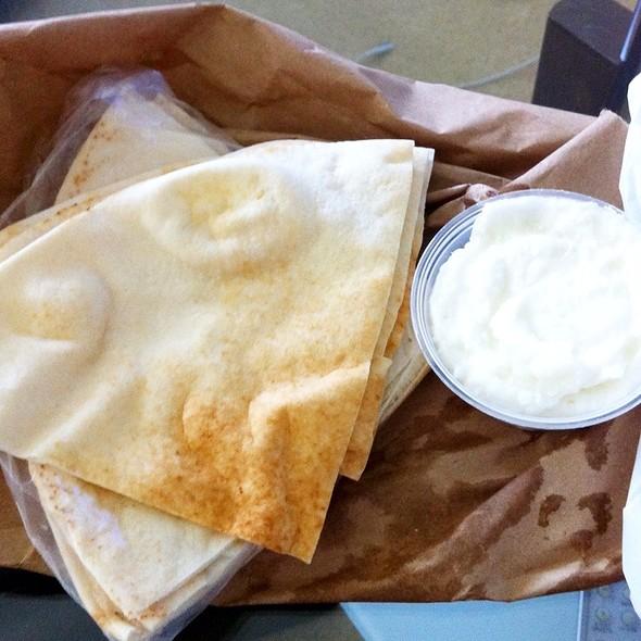 Pita Bread And Garlic @ La Oasis