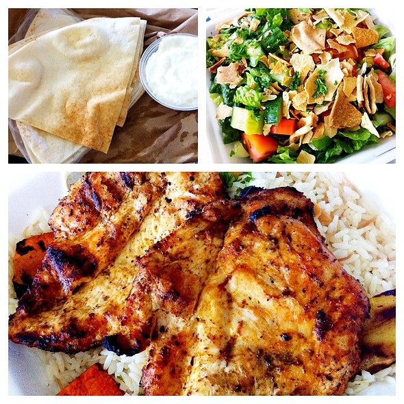 Half Deboned Chicken Dinner @ La Oasis