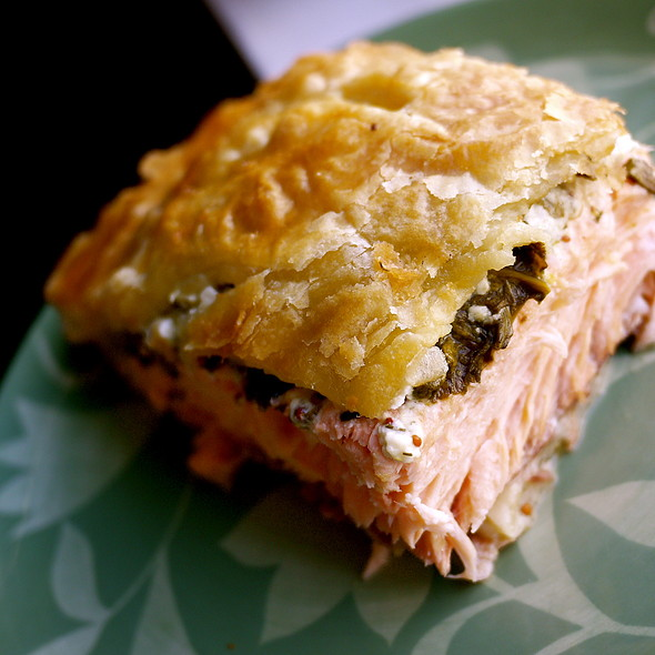 Salmon Wellington @ Fox W's Kitchen