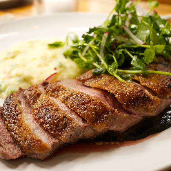 Pan-Seared Duck Breast - Satis Bistro - Jersey City, Jersey City, NJ