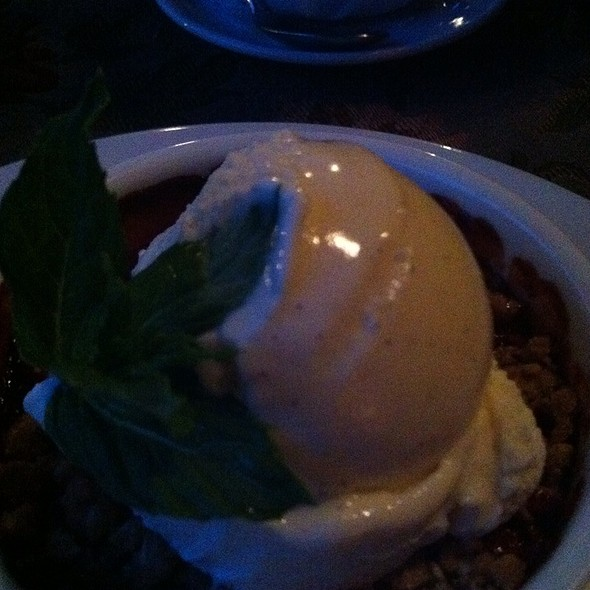 Sour Cherry Crisp - Suzanne's Cuisine, Ojai, CA