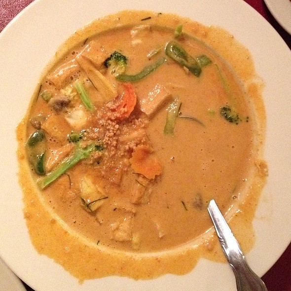 Panang Curry With Tofu & Vegetables @ Thai Cuisine