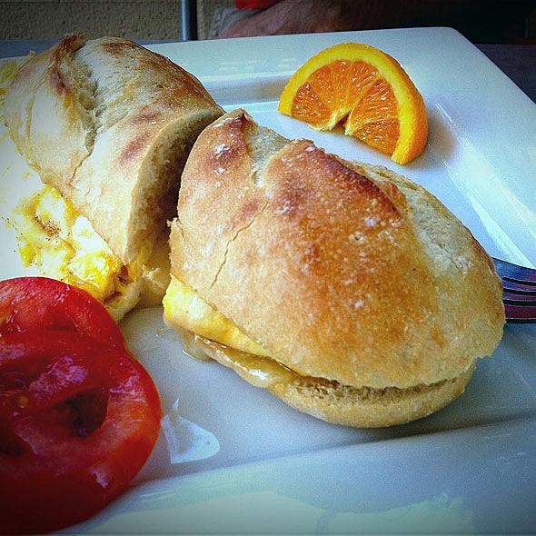 egg sandwich - Squeeze Marfa, Marfa, TX