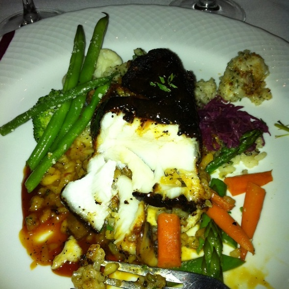 Blackened Chilean Sea Bass @ Dewz Restaurant