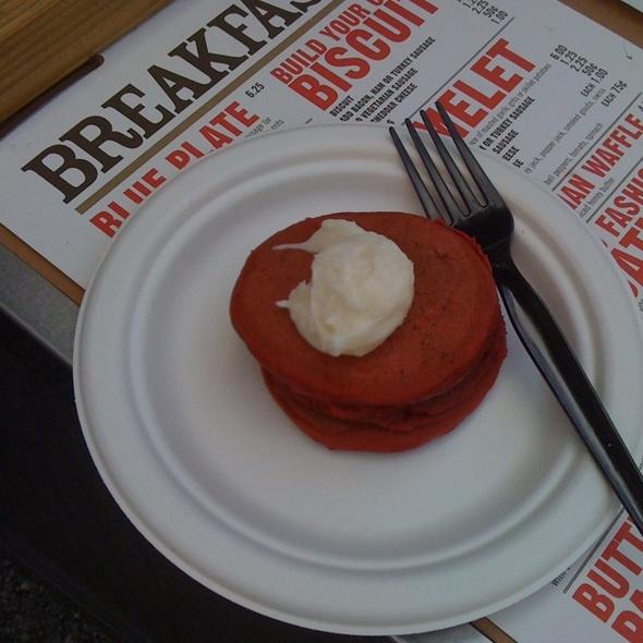 Red Velvet Pancakes @ West Egg Cafe