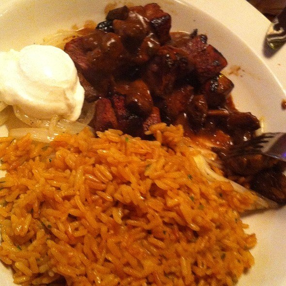 Beef Tips With Rice @ Texas Roadhouse