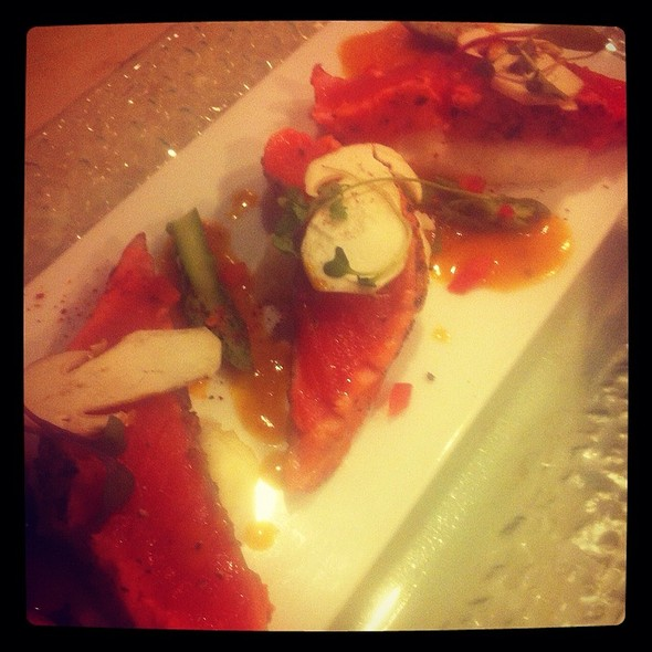 Slightly Seared Sockeye Salmon Filet @ Rue Saint Jacques Restaurant