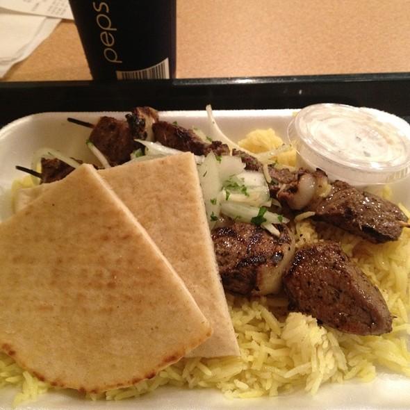 Souvlaki Kabob Plate @ Greek Grill