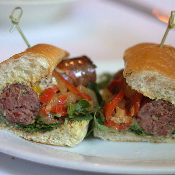 Rossi's Spicy Italian Sausage Sandwich @ Mulvaney's B & L