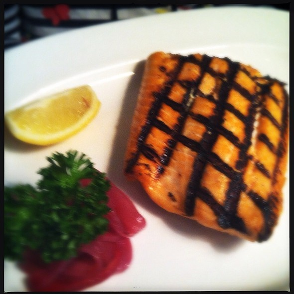 Grilled Salmon - 111 Chop House, Worcester, MA