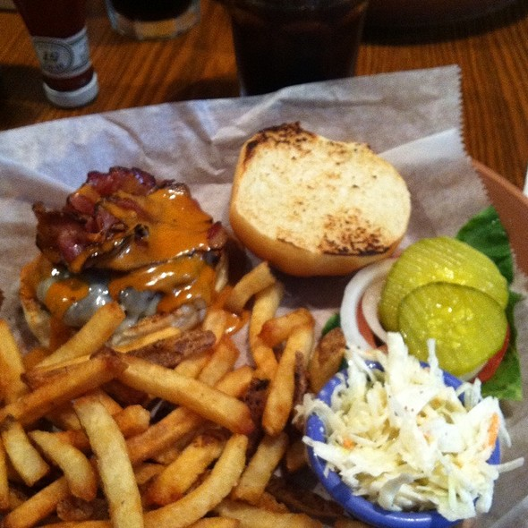 Ranchero Burger with French Fries