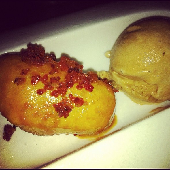 Bacon Doughnuts, Dulce De Leche, Coffee Ice Cream @ Traif