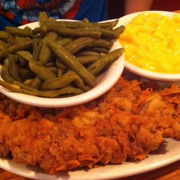 Chicken Fried Steak and Green Beans