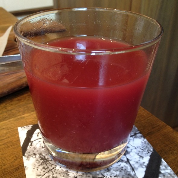 Pomegranate & Orange Juice @ Blue Duck Tavern