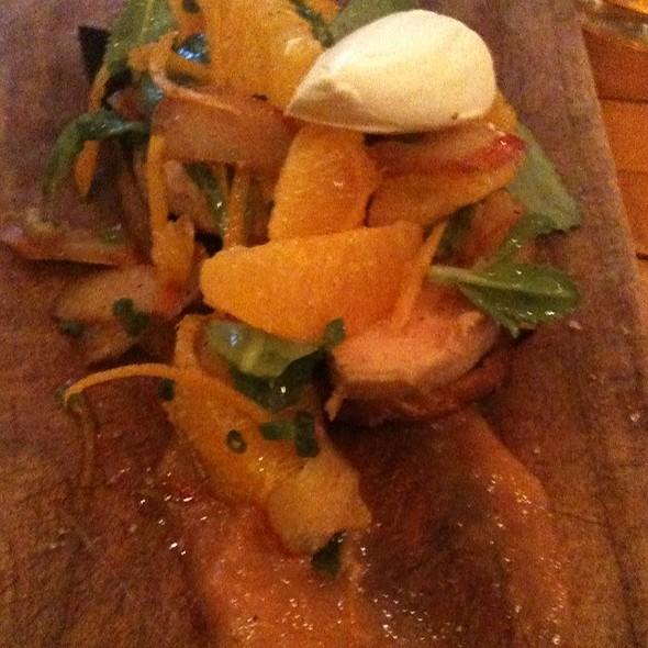 Foie Gras Torchon With Rhubarb, Yuzu And Buckwheat @ La Salle A Manger