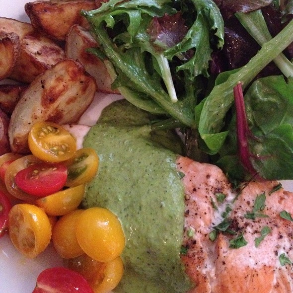 Pesto Salmon With Herb Potatoes @ Boat Street Cafe
