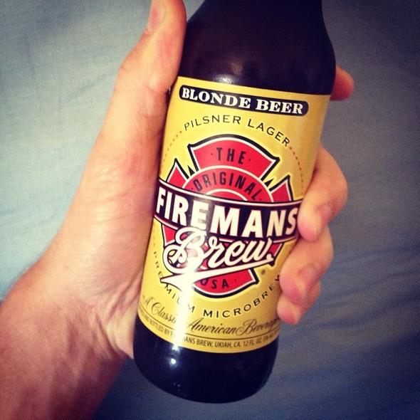Firemans Brew Blonde Beer @ Home