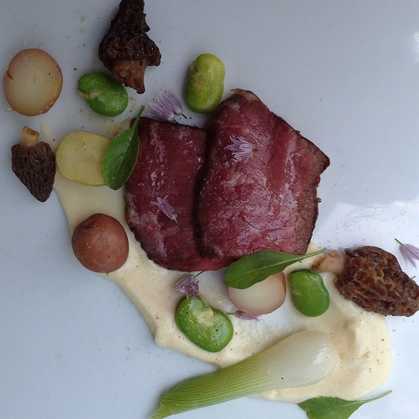 Beef Loin, Spring Onion, Fava Beans, Morel Mushrooms, Marble Potatoes And Potato  Puree - The Schoolhouse at Cannondale, Wilton, CT