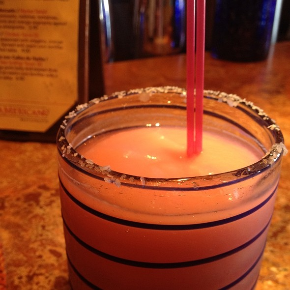 pomegranate margarita @ Rosa Mexicano