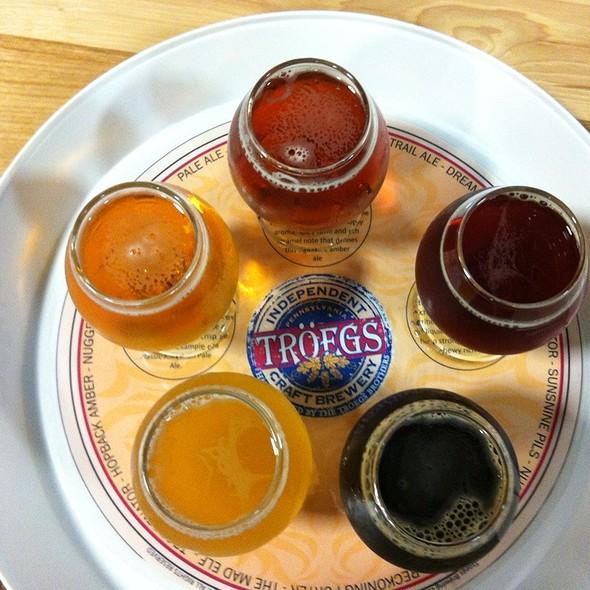 Beer Sampler @ Troges Brewery