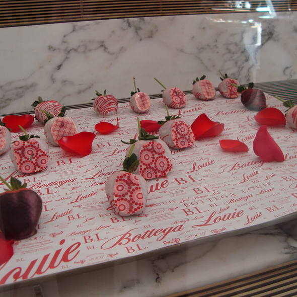 Chocolate Covered Strawberry @ Bottega Louie Restaurant and Gourmet Market