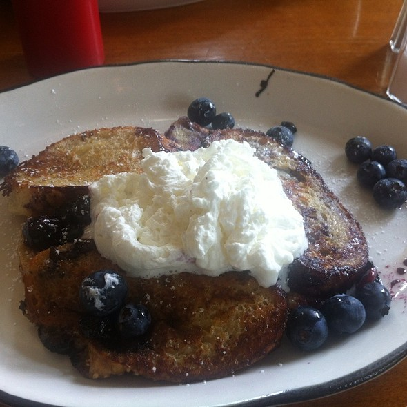 Blueberry Stuffed French Toast @ Ox Cart Tavern
