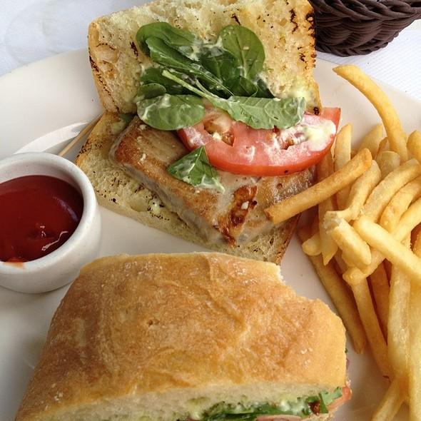 Ahi Tuna Sandwich - Scoma's Sausalito, Sausalito, CA