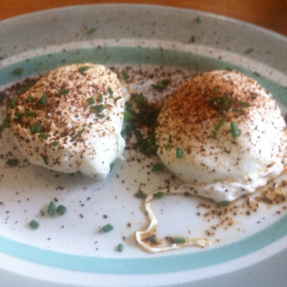 Poached Eggs @ Ox Cart Tavern