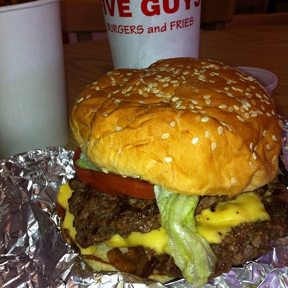Bacon Cheeseburger & Fries @ Five Guys Burgers & Fries-University City
