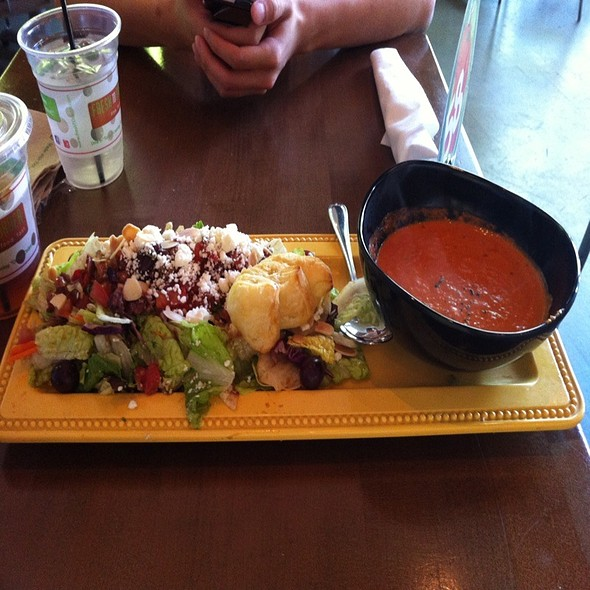 Mediterranean Salad With Tomato Bisque @ f2o - fresh to order midtown