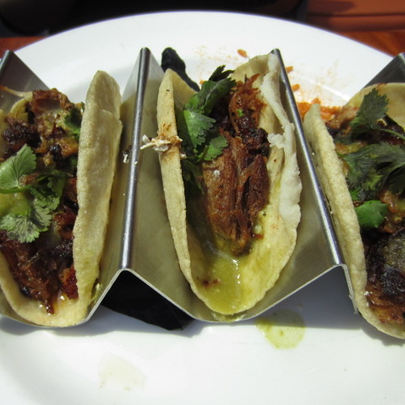 carnitas tacos - Dos Caminos - Third Avenue, New York, NY
