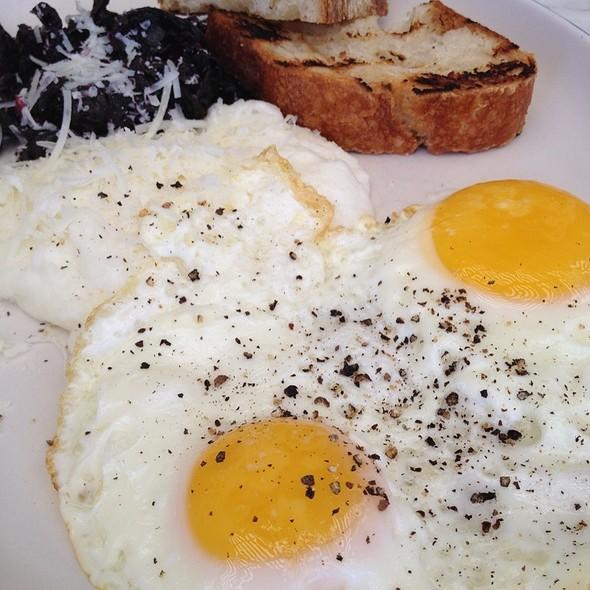 Over Easy Eggs And Polenta @ North Trattoria