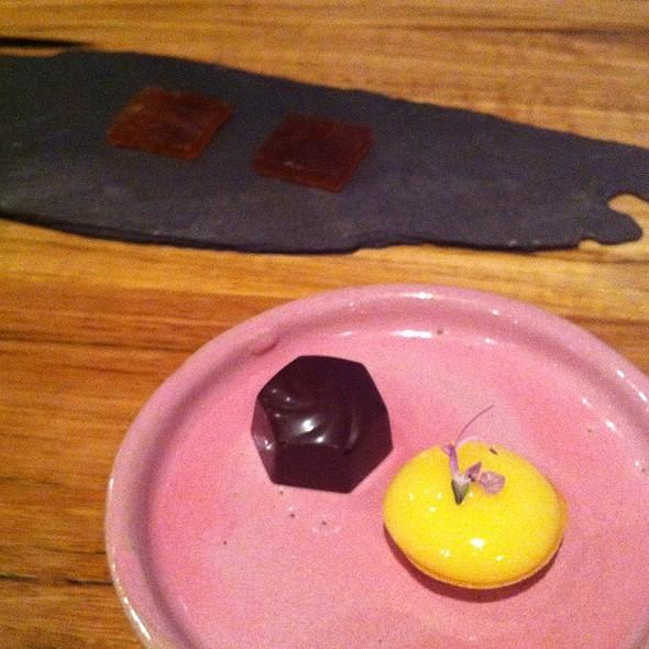 Earl Grey Jelly, Chocolate , And Lemon Tart @ Loam