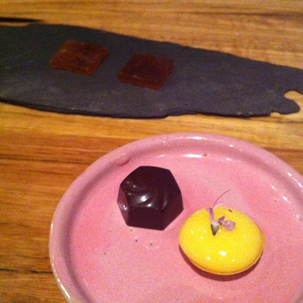 Earl Grey Jelly, Chocolate , And Lemon Tart @ Loam