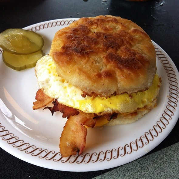 Bacon, Egg & Cheese Buscuit @ Waffle House