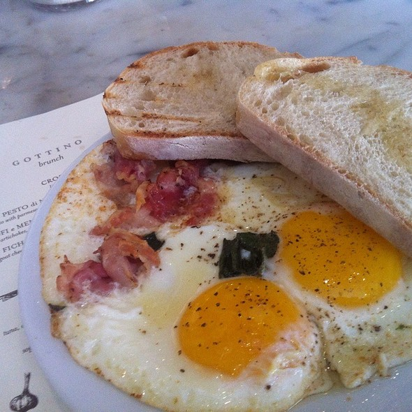 Eggs With Pancetta & Sage @ Gottino