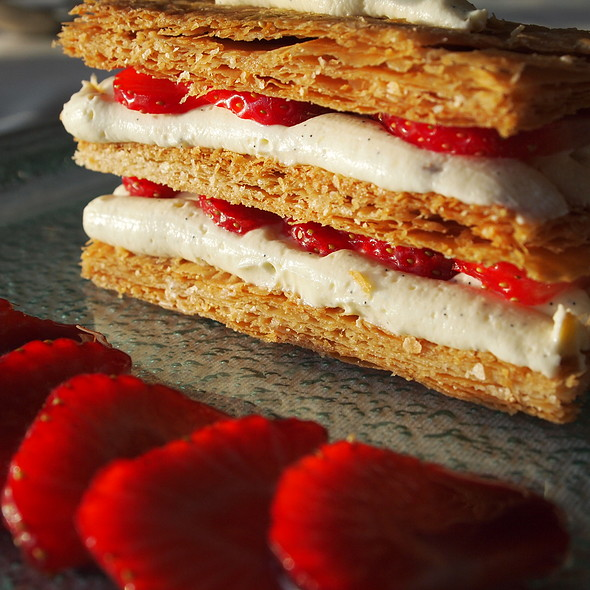 Strawberry Mille Feuille @ Castlemurray House
