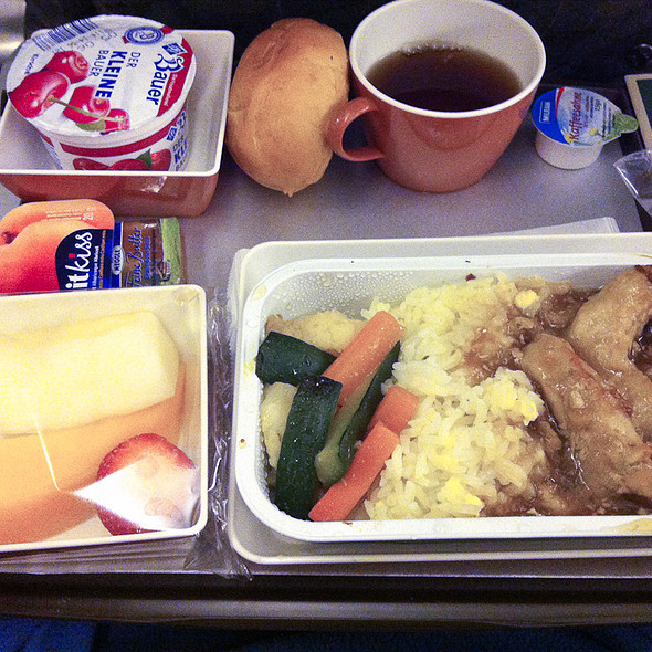 Pork, vegetable and rice @ Vietnam Airline Corporation