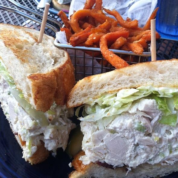 Chicken Salad Sandwich With Sweet Potato Fries @ Bat 17