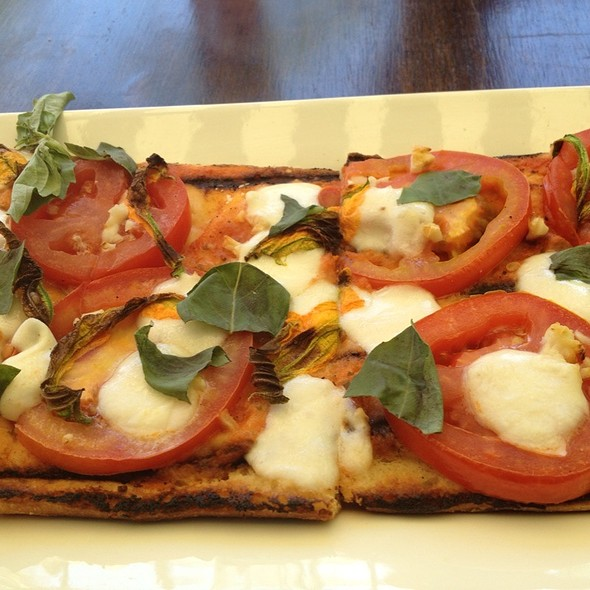 "Vegetable Flatbread ""Pizza"" - Purple Palm at the Colony Palms Hotel, Palm Springs, CA"