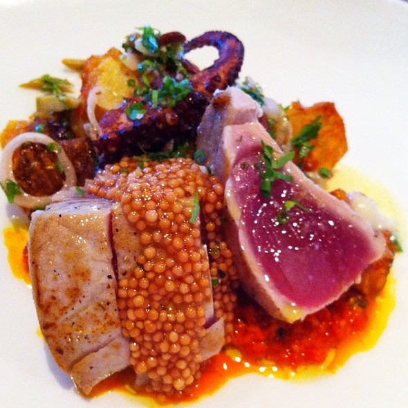 Seared Tuna With Grilled Octopus @ The Optimist