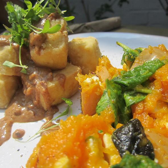 Deep Fried Tofu with Satay Sauce @ The Larder