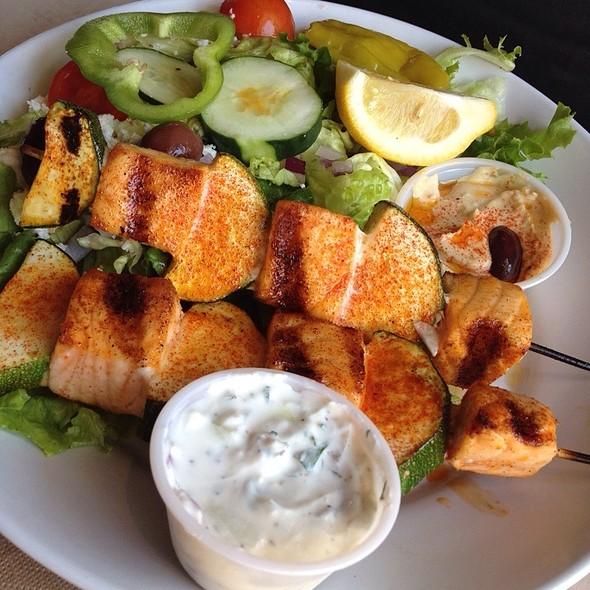 Zoes Kitchen Salmon Kabob zoes kitchen menu - foodspotting